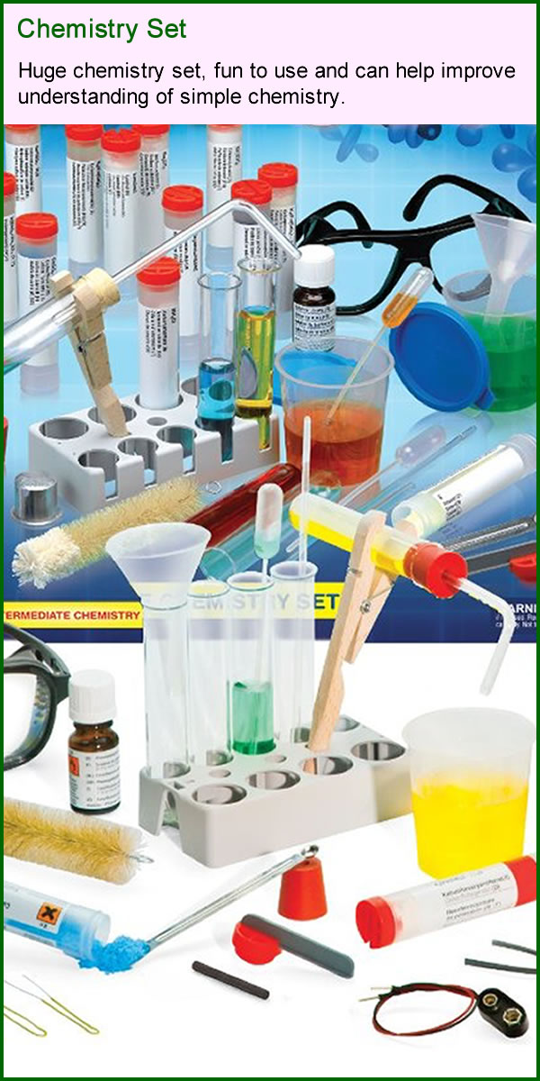 Chemistry set for extra learning and study