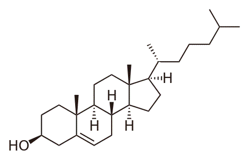 Structural formula of cholesterol