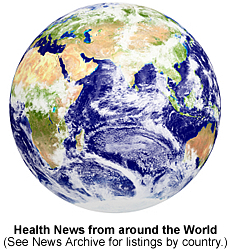 Health News from around the world.