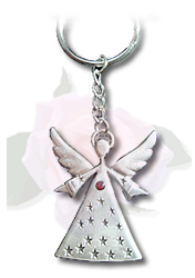 January Angel Keyring