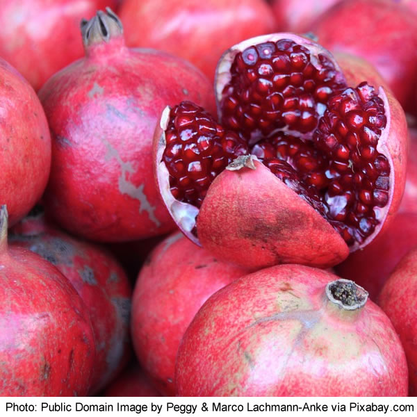 Photo of pomegranates by Peggy and Marco Lachmann-Anke