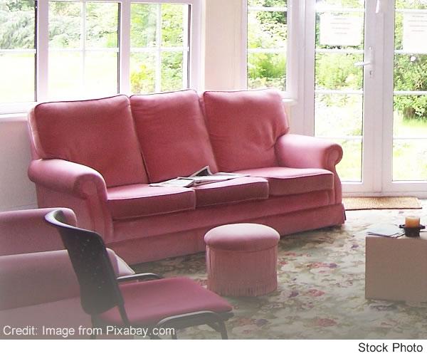 settee in living room