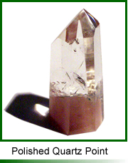 Polished quartz point